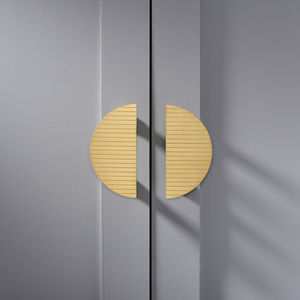 Half Moon Brass Door Handles