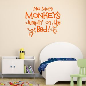 No Jumpin' On The Bed Wall Sticker - sale by category