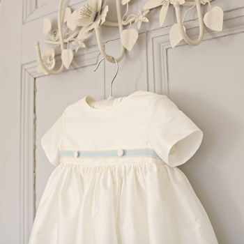 Personalised James Silk Christening Gown