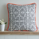Hand Drawn Paisley Piped Cushion