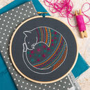 Black Cat Contemporary Embroidery Kit
