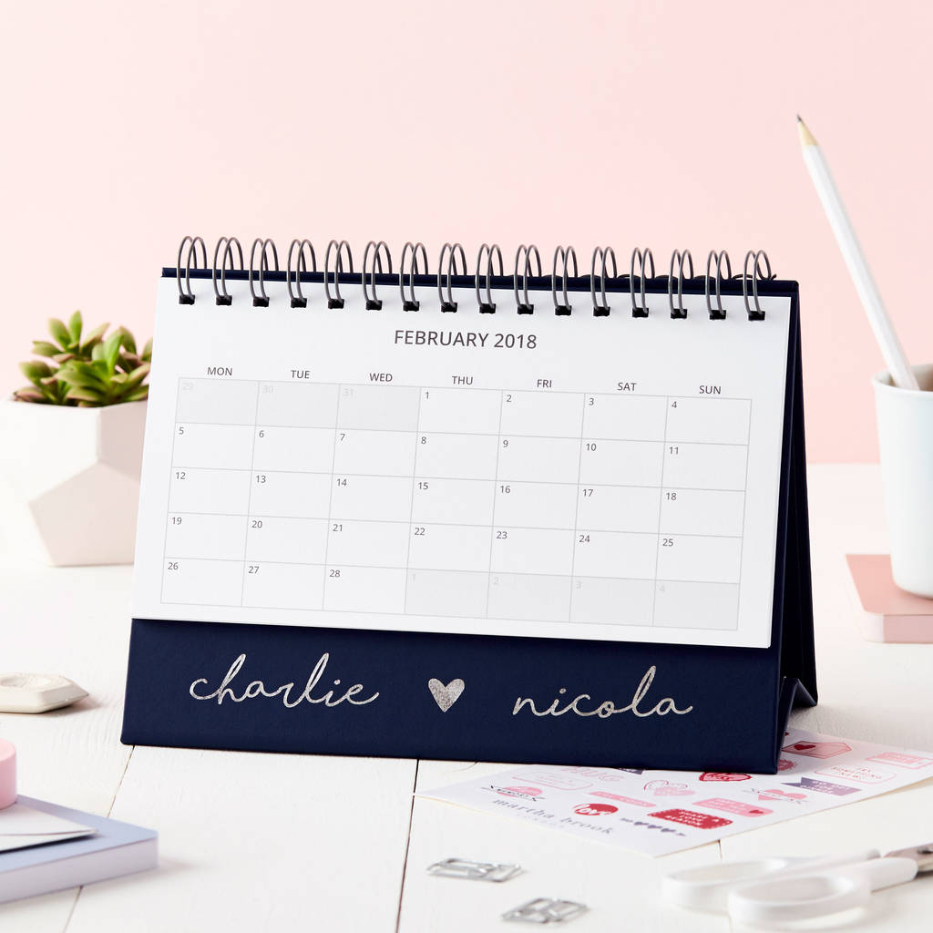 marthabrook calendar product original brook personalised script desk by martha