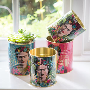 Set Of Two Frida Kahlo Metal Tins