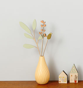 Decorative Wooden Flowers Sage And Rosehip Set - home accessories