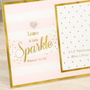 Leave A Little Sparkle Photo Frame