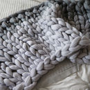 Giant Knit Ombre Blanket