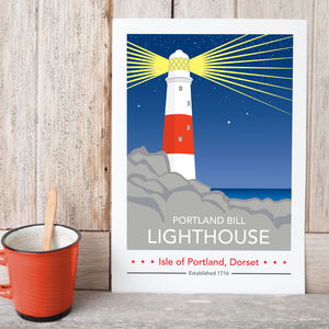 Portland Bill Lighthouse Night Time Print