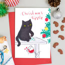 Cat Christmas Card Christmas Tipple