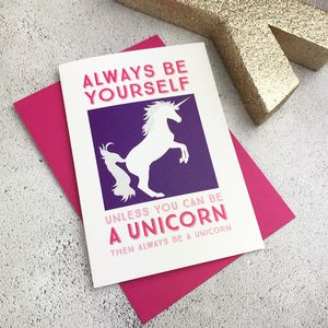 Unicorn Card - birthday cards