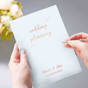 Wedding Planner Scrapbook Personalised Foil