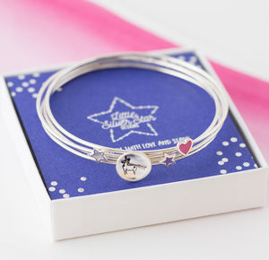 Unicorn Sterling Silver Stacking Bangle - bracelets & bangles