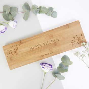 Personalised Gift For Mother's Day Wooden Serving Board