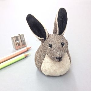 Handmade Henrietta The Hare Paperweight - ornaments