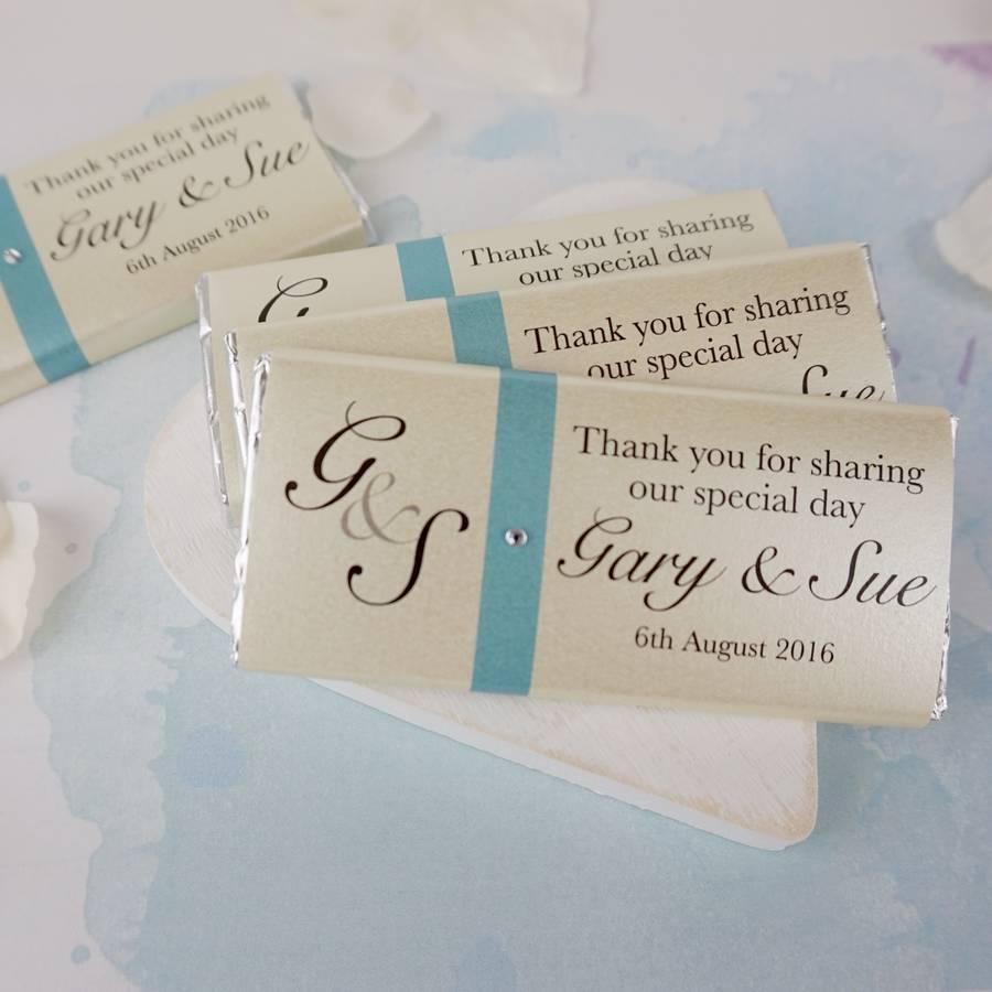chocolate wedding favours by tailored chocolates and gifts ...