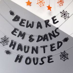 Personalised Halloween Haunted House 5m Bunting - party decorations