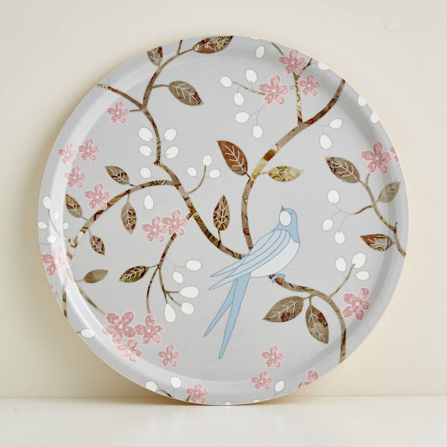 Round Swallows Tray