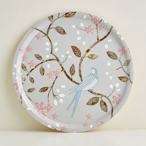 Round Swallows Tray - trays