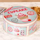 Personalised Vintage Cupcake Storage Tin