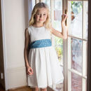 White Broderie Anglaise Flower Girls Occasion Dress