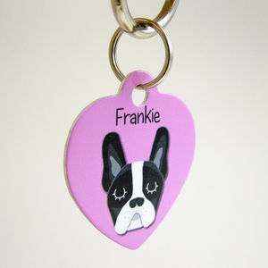Personalised Dog Name Tag Heart