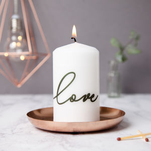 Love Candle - table decorations