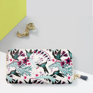 Personalised Hummingbird Printed Purse Wallet