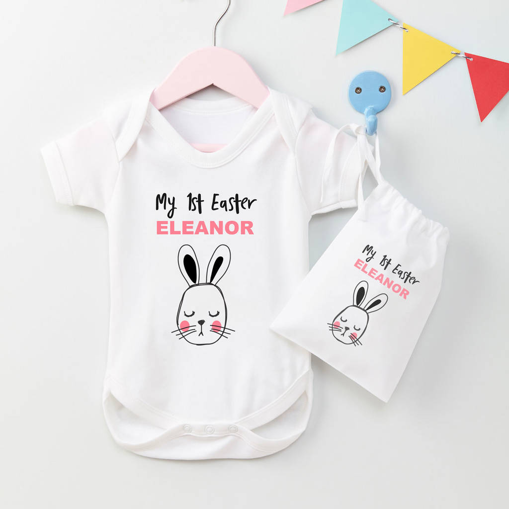 120cbcdaa personalised my first easter baby grow gift set by tilliemint ...