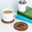 Personalised Wood Initials Coasters