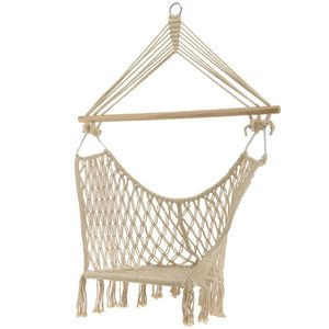 Cream Macrame Box Hanging Seat