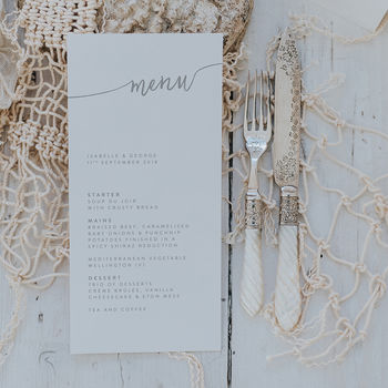 Isabelle Menu Card