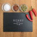 Personalised 'Head Chef' Mens Chopping Board