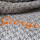 Personalised Knitted Pet Blanket