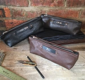 Personalised Leather Pencil Case - stationery