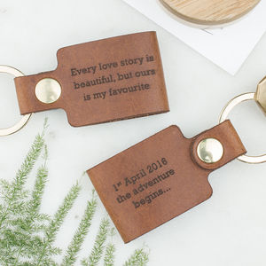 Personalised Leather Keyring - hen party gifts