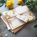 Spring Yellow Wedding Invitations