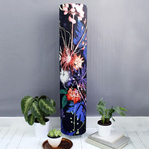 Deep Blue With Bright Botanicals Meter High Floor Lamp