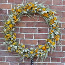 Bring Me Sunshine Dried Flower Wreath