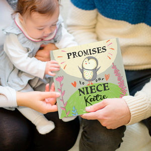 Personalised 'Promises To You' Book For Niece Or Nephew