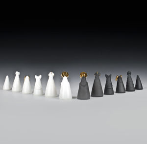 Handmade Porcelain Chess Set - sculptures