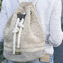 'Ecuador' Hand Crocheted Raffia And Rope Duffle Bag