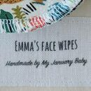 Personalised Leopard Print Reusable Face Wipes