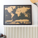Scratch Map® Deluxe Poster Framed