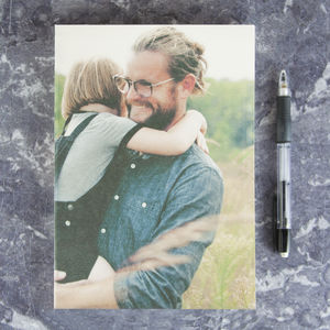 Personalised Photo Textured Cover Notebook - writing