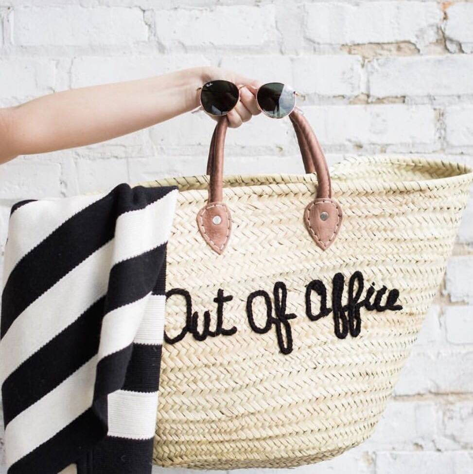 Completely new out of office' straw bag by lily and bean | notonthehighstreet.com PX19