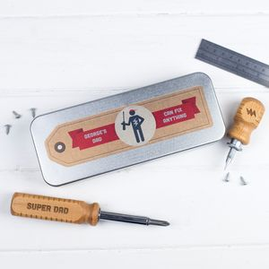 Personalised Screwdriver Set In A Tin - gifts for men