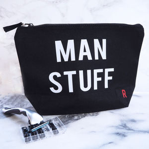 Man Stuff Wash Bag - make-up & wash bags