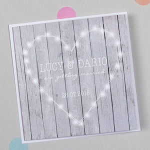 Fairy Lights Heart Wedding Invitation