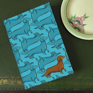 'Bertie The Dachshund' A5 Lined Notebook