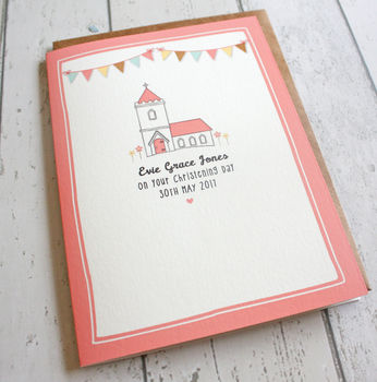 Personalised Christening Day Card