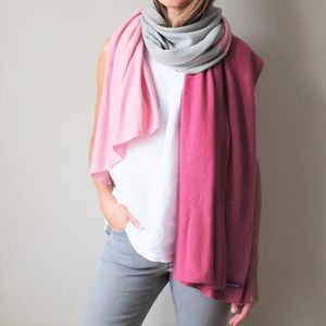 Multi Colour Cashmere Wool Wrap Shawl - gifts from older children